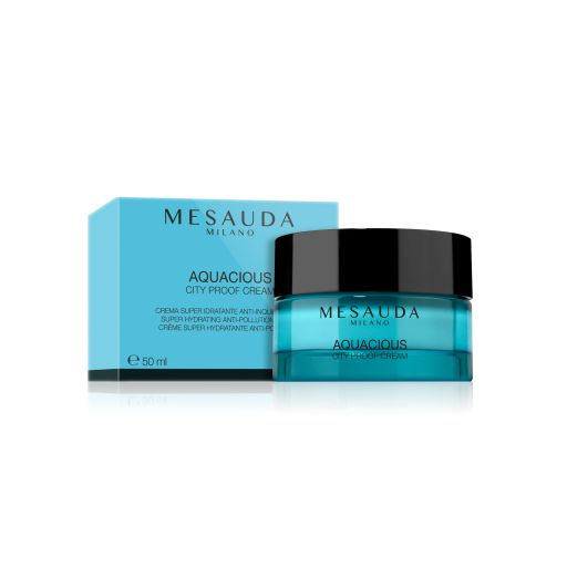 Aquasious City Proof Cream Super Hydrating Anti-Pollution Cream 50 ml - Mesauda Milano |  Ενυδάτωση στο Make Up Art