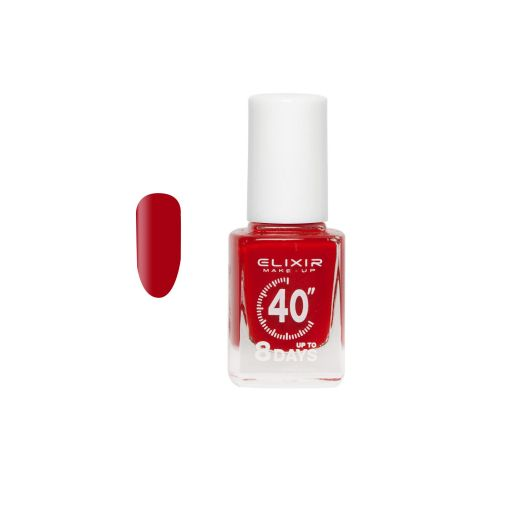up To 8 Days # 022 (Scarlet) 13 ml - Elixir Make-Up    Βερνίκια στο Make Up Art