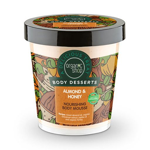 Body Desserts Almond & Honey Mousse 450 ml - Organic Shop Natura Siberica |  Σώμα στο Make Up Art