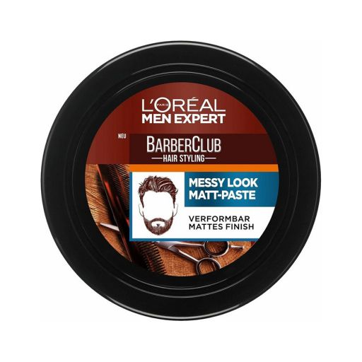 Barber Club Messy Hair Clay 75ml - L'Oreal Men Expert |  Ανδρική Περιποίηση στο Make Up Art