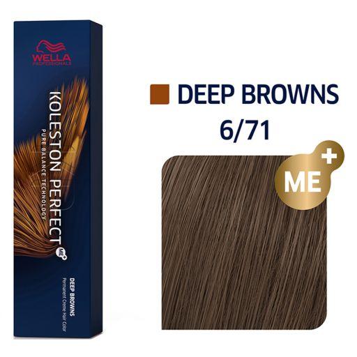 Koleston Perfect ME+ Deep Browns 6/71 60 ml - Wella Professionals |  Βαφές Μαλλιών στο Make Up Art