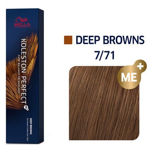 Koleston Perfect ME+ Ξανθό Καφέ Σαντρέ 7/71 60 ml - Wella Professionals |  Βαφές Μαλλιών στο Make Up Art