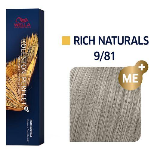 Koleston Perfect ME+ Rich Naturals 9/81 60 ml - Wella Professionals |  Βαφές Μαλλιών στο Make Up Art