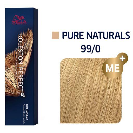 Koleston Perfect ME+ Pure Naturals Ξανθό Πολύ Ανοιχτό 99/0  60 ml - Wella Professionals |  Βαφές Μαλλιών στο Make Up Art