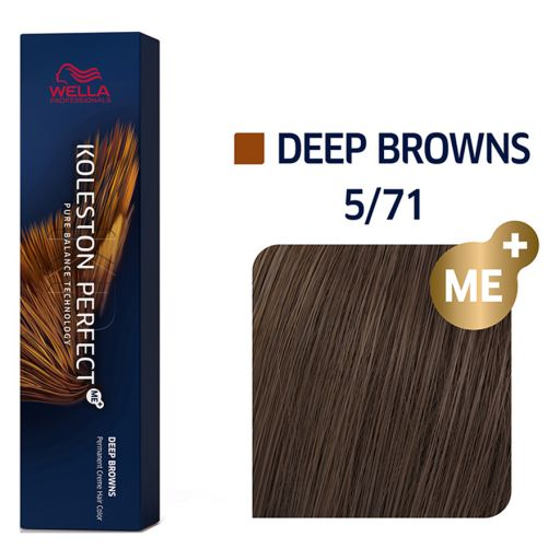 Koleston Perfect ME+ Deep Browns 5/71 60 ml - Wella Professionals |  Βαφές Μαλλιών στο Make Up Art